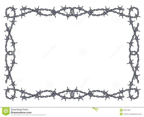 barbed wire frame vector stock vector illustration of
