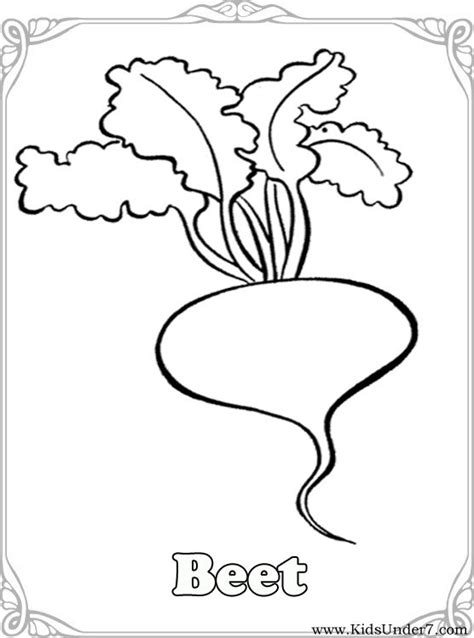 coloring pages vegetables preschoolers applique templates on scrapbooking flowers