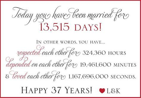 37th Anniversary!   quotes   Wedding anniversary quotes