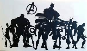 Wall Vinyls Home Decor wall decal the avengers silhouette paxton s superhero