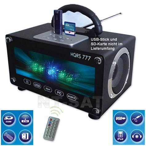 Radio Usb Mobil radio tragbare usb sd karten boombox led mobile