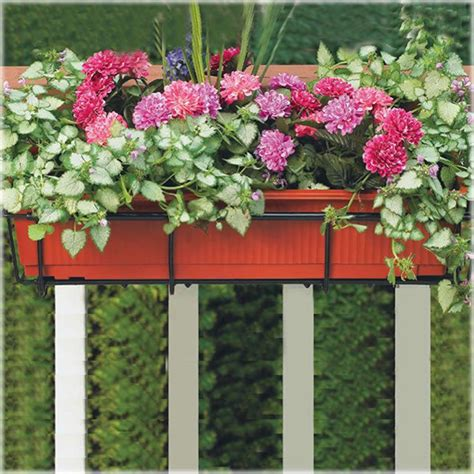 awesome deck railing planter boxes railing stairs and