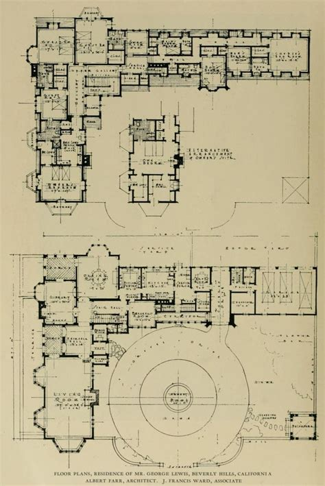 Biltmore Estate Floor Plans by Plans Of The Residence Of Mr George Lewis In Beverly
