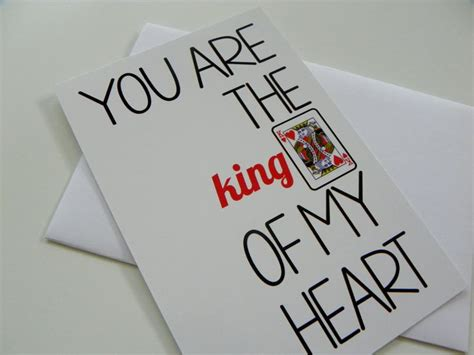 valentines cards for him card king of hearts card