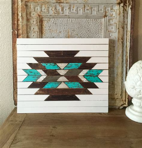 aztec home decor aztec wall art southwestern reclaimed wood wooden home
