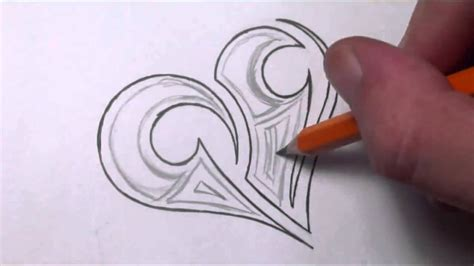simple pencil drawing images of heart drawing a simple