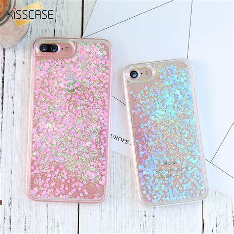 Iphone 7 Plus Make A Wish Aqua Glitter kisscase lovely for iphone 5 5s se 7 plus