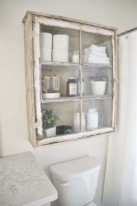 diy bathroom cabinet upcycle that