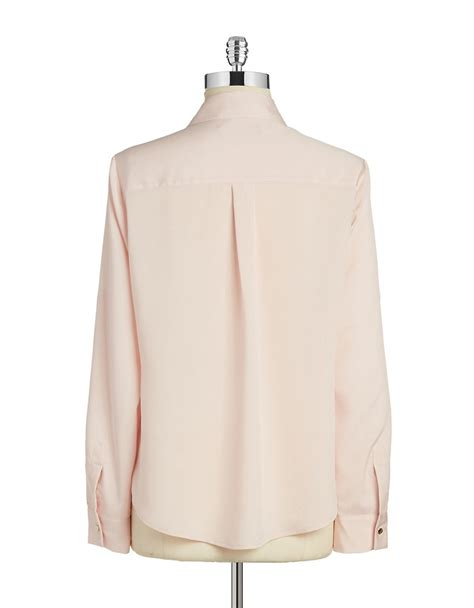 Trumpi Blouse ivanka button front blouse in pink blush lyst