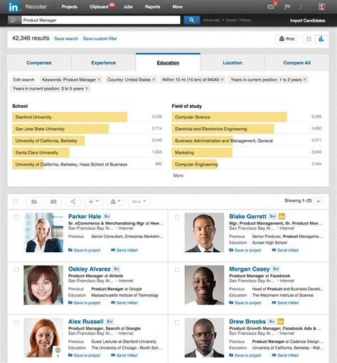 Linkedin Email Search New Linkedin Recruiter Search Insights Surface Valuable Talent Pool Data Linkedin