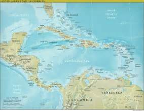 physical map of central and south america the world factbook