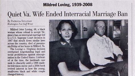 washington post obituary section the washington post obituary for mildred loving 2008