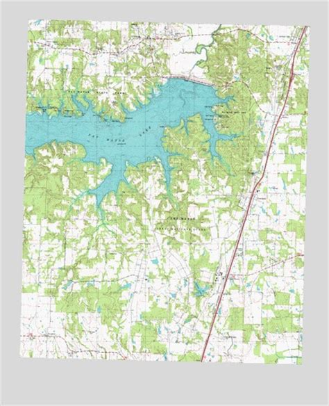 east texas lakes map pat mayse lake east tx topographic map topoquest