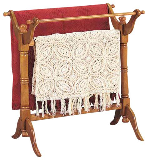 freesttanding heirloom blanket rack oak traditional