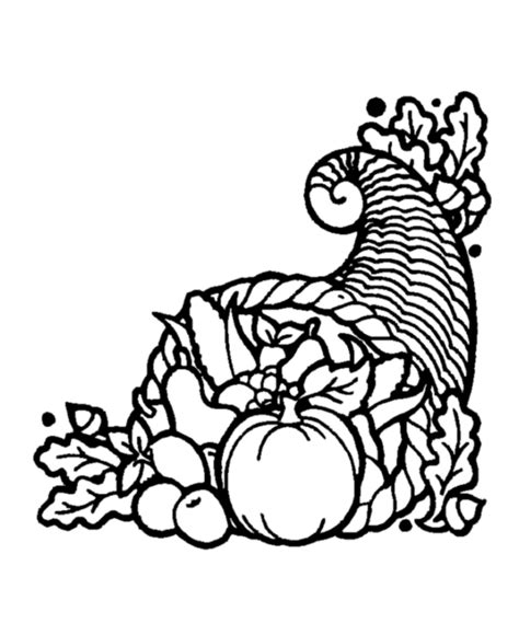 cornucopia outline coloring page thanksgiving day images free cliparts co
