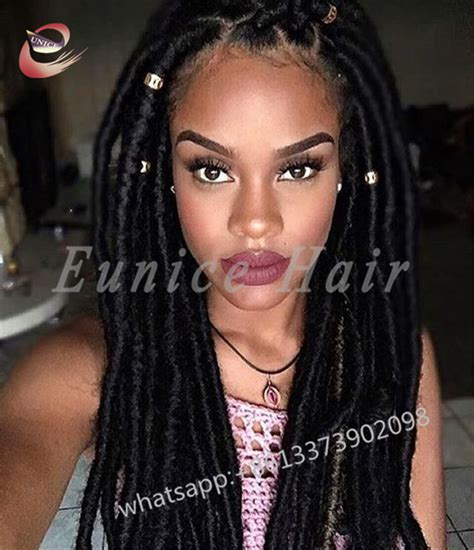 nubian hair long single plaits with shaved hair on sides aliexpress com buy faux locs african crochet hair