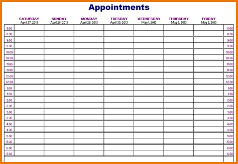 printable appointment calendar template search results for june 2013 appointment calendar