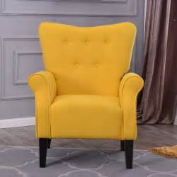 yellow sofa chair arm chair accent single sofa linen fabric upholstered