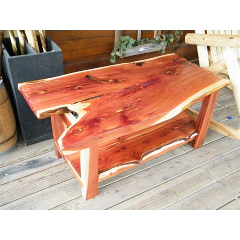 Cedar Coffee Table Cedar Slab Coffee Table