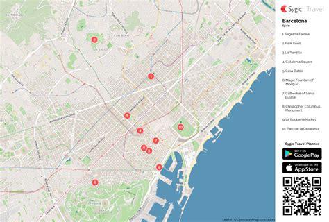 printable maps barcelona barcelona printable tourist map sygic travel