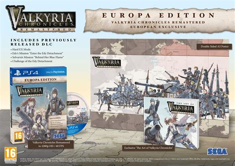 Ps4 Valkyria Revolution Vanargand Edition Reg All valkyria chronicles remastered gets release date trailer and an exclusive europa edition