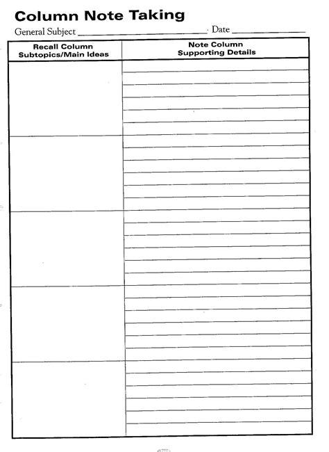 printable graphic organizer templates free printable cornell notes graphic organizer comic