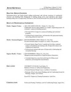 Solidworks Drafter Sle Resume by Draft Resume Exle Resume Format 2017
