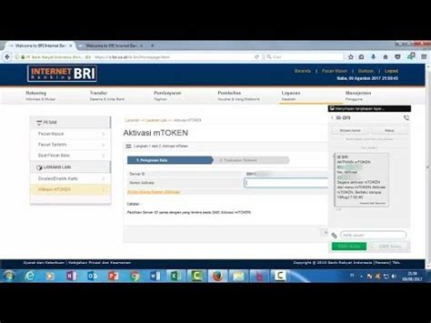 cara aktivasi tutorial online ut tutorial cara aktivasi mtoken bri internet banking youtube
