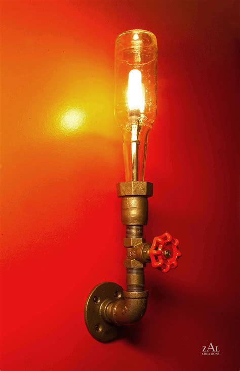 plumbing pipe light fixture wall l bottle plumbing pipe fittings by zalcreations