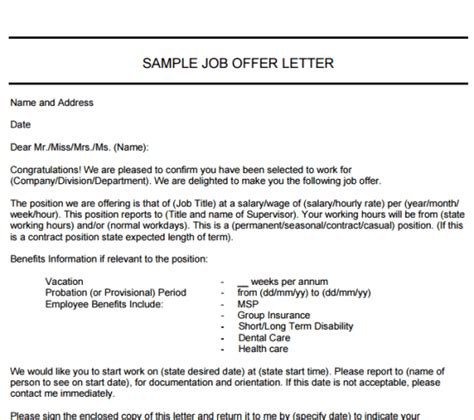 offer up letter 9 websites to get free offer letter template