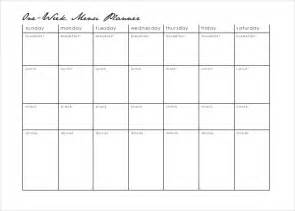 Free Meal Plan Calendar Printable 18 menu planner templates free sample example format