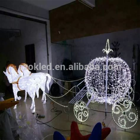 lighted and carriage outdoor outdoor decoration carriage motif 3d led