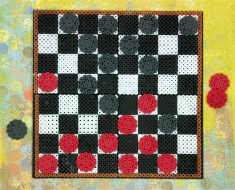 pattern game ideas create your own checkers gameboard and pieces with perler