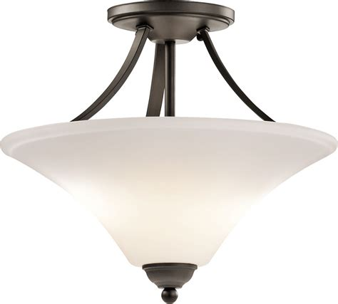 Modern Ceiling Light Fixtures Kichler 43512ozl16 Keiran Modern Olde Bronze Led Flush Mount Ceiling Light Fixture Kic 43512ozl16