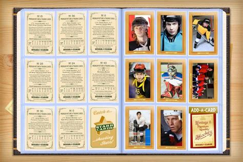 vintage hockey card template custom hockey cards vintage 11 series cards