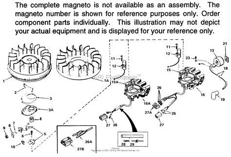 tecumseh mg 611040 parts diagram for magneto