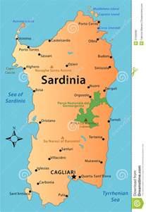 Sardinia Italy Map by Map Of Sardinia Royalty Free Stock Image Image 37266086
