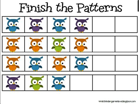pattern artwork for kindergarten math pattern clipart