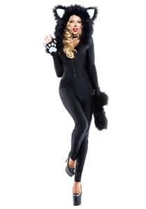 Womens Halloween Costumes Women S Furry Feline Costume