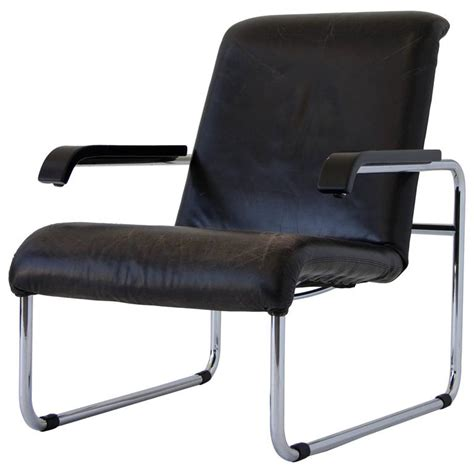 Marcel Breuer Thonet by Marcel Breuer For Thonet B35 Leather Lounge Chair At 1stdibs