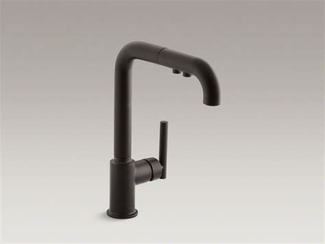 black faucets kohler purist matte black kitchen faucet roman bath