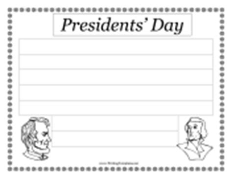presidents day writing paper policeman paper doll