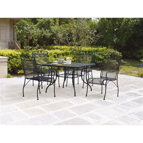 mainstays jefferson 5 patio dining set seats 4