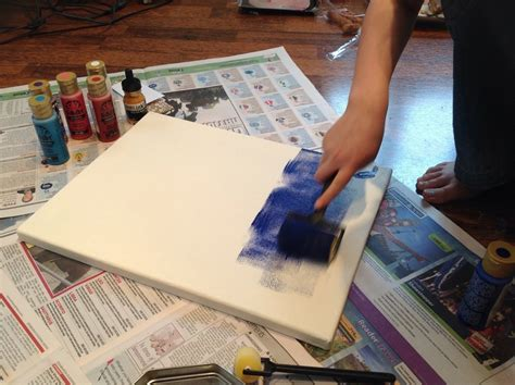 how to apply acrylic paint on canvas acrylic paint roller canvas artist inspired painting