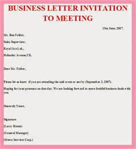 Conference Invitation Letter 2016 Meeting Invitation Letter Template Invitation Template