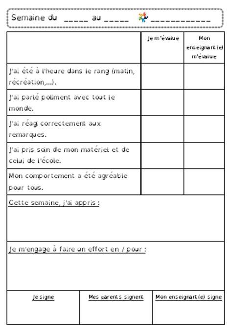 Grille D évaluation Autisme by Grille D 233 Valuation Hebdomadaire Document Gratuit