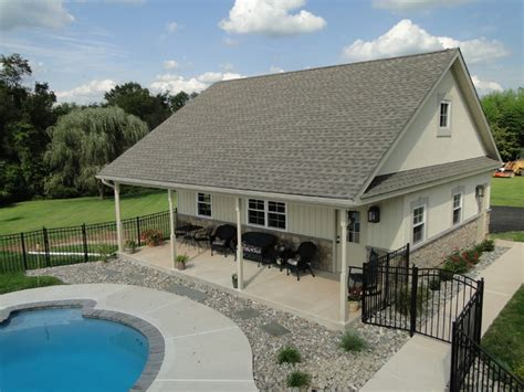 Garage Pool House | collegeville pa residence pool house and garage
