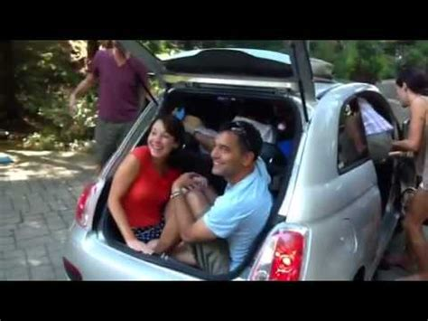 how many people can you seat at a 46 inch round how many people can you fit in a fiat 500 part 1 youtube