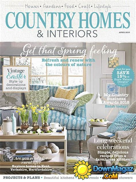 country home decorating magazine country homes interiors april 2015 187 pdf magazines magazines commumity