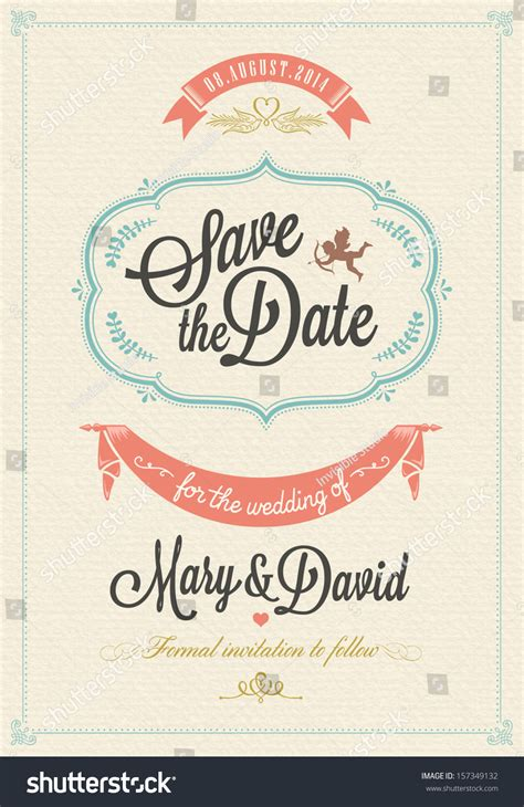 Wedding Invitations Card Stock by Save Date Wedding Invitation Card Stock Vector 157349132